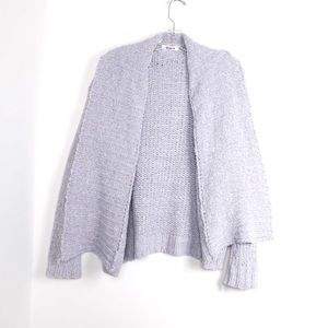 BB Dakota gray soft open front cozy oversized